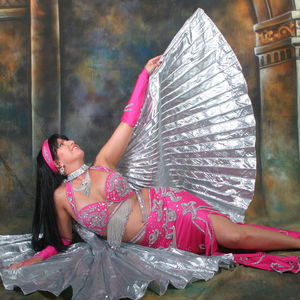 Alia %28pink   silver costume with wings%29 on floor